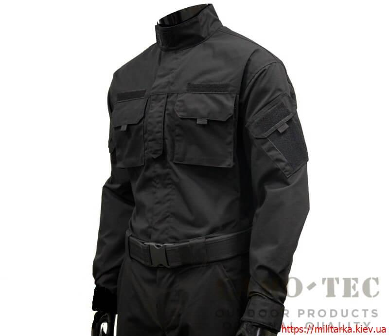 Костюм тактический полиция рип-стоп тефлоновая пропитка черный