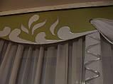 Жесткий ламбрекен Вензель салатовый, фото 4