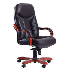 Кресло Буффало НВ коньяк Кожа Люкс комбинированная Темно-коричневая (AMF-ТМ)