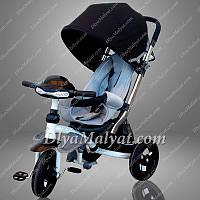 Трехколесный велосипед коляска кроссер Crosser T 350 ECO (Черно-белый)