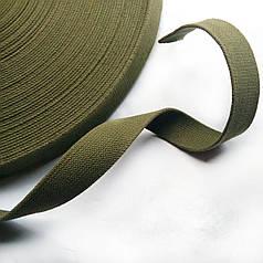 Лента ременная ХБ 25 мм техническая брезентовая (стропа хлопчатобумажная вожжевая)