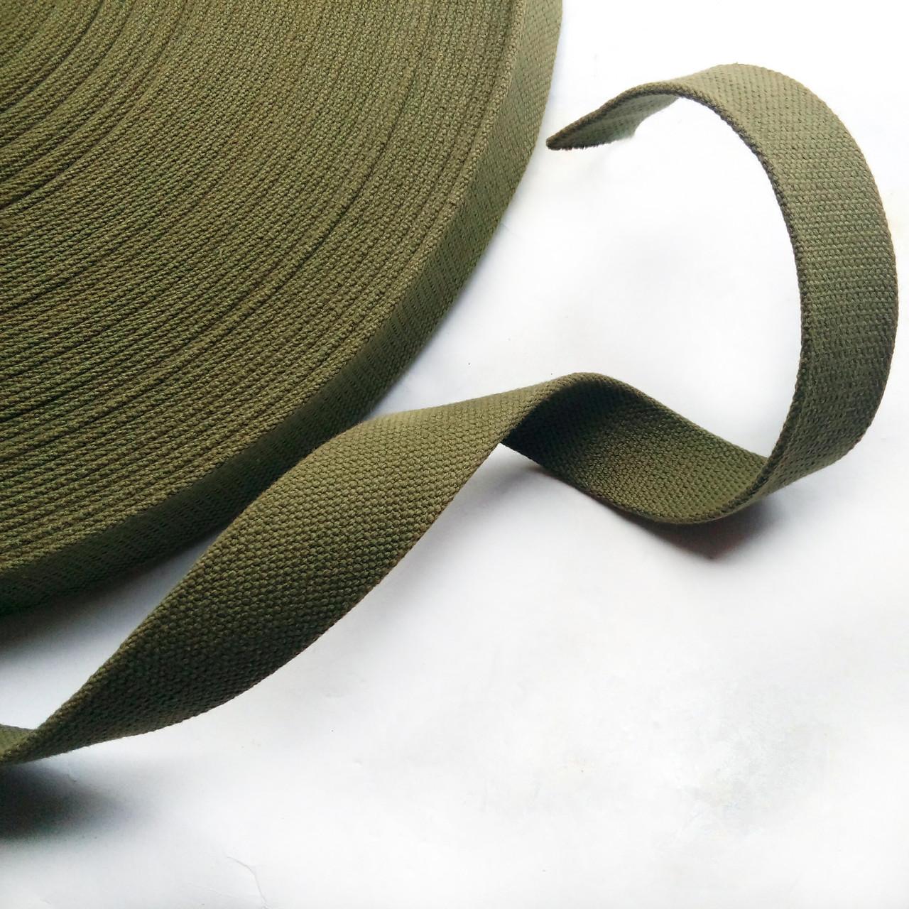 Лента ременная ХБ 30 мм техническая брезентовая (стропа хлопчатобумажная вожжевая)