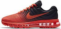 """Мужские спортивные кроссовки Nike Air Max 2017 """"Black/Red"""" (Найк Аир Макс 2017) черные/красные"""