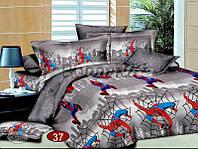 Дитяча постільна білизна із бязевої тканини ЛЮДИНА ПАВУК (Детский постельный комплект из бязи ЧЕЛОВЕК ПАУК)