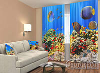 "ФотоШторы ""Екзотичні рибки"" 2,5 м*2,6 м (2 полотна по 1,30 м), тасьма"
