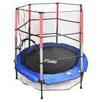 Батут детский спортивный для тренировок с защитной сеткой тм «profi action» 165см