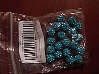 Бусины шамбала с кристаллами для  рукоделия 10 мм 20шт