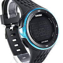 Часы спортивные Skmei 1219 Black-Blue, фото 5