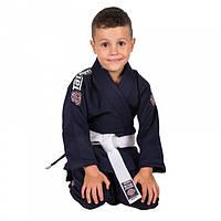 Кимоно детское для Бразильского джиу-джитсу TATAMI Kids Nova 2015 Темно-синее + Белый пояс М1