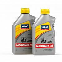 Масло для двухтактных двигателей (бензопилы, бензокосы) Yuko Motomix 2C объем 1 литр SAE 30/API TC