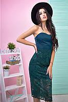 Женское платье без бретелей, в расцветках