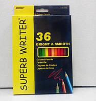 Карандаши цветные «Super Writer», 36 цветов, ТМ Marco (4100-36CB)
