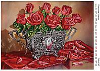 """Схема на ткани для вышивки бисером """"Соблазнительные розы"""" 347"""