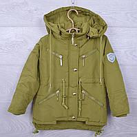 Куртка подростковая демисезонная DX-6606 для девочек. 128-146 см (8-11 лет). Хаки. Оптом., фото 1
