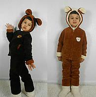 Детский махровый костюм пижама с ушками от 2 лет до 10 лет
