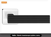 Дверная ручка Metal-bud Malibu  черный -хром