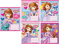 "Тетради, ""Princess Sophia (Принцесса София  - паттерн)"" 12 листов, клетка"