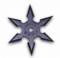 Сюрикен - метательная звездочка, из высококачественной прочной стали, диаметр 9,8 см
