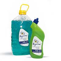 Средство с хлором для мытья санузлов, туалетов, полов, посуды, стирки Санитарный-Гель, 5 л, ТМ Бджілка