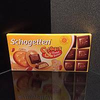 Молочный шоколад с арахисовой сливочно-кремовой начинкой Schogetten cookies&peanut butterМолочный шоколад с ар