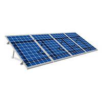 Система крепления солнечных батарей на плоскую крышу для 10-ти модулей