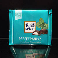 Молочный шоколад со вкусом мяты Ritter sport Pfefferminz