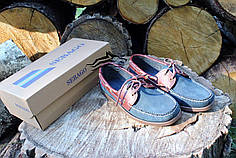 Мокасины мужские SEBAGO синие (нат.замша)