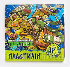 """Пластилин """"Ninja Turtles - Черепашки ниндзя"""" 12 цветов, ТМ """"1 Вересня"""""""