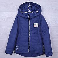 """Куртка подростковая демисезонная """"Fashion 1888"""" #WJK-65 для девочек. 122-146 см (7-11 лет). Синяя. Оптом., фото 1"""