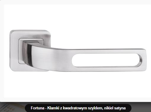 Дверная ручка Metal-bud Fortuna никель- сатин