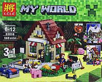 Конструктор Lele серия My World 33016 Времена года 3в1 (аналог Lego Майнкрафт, Minecraft)