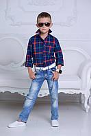 Рубашка для мальчика в клетку, фото 1
