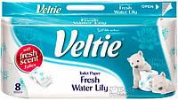 Туалетная бумага Veltie Морской бриз, Белая аромат. с рис. 2х шар  8 рул, 150 листов