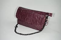 Сумка-клатч кожаная небольшая 0011 purple
