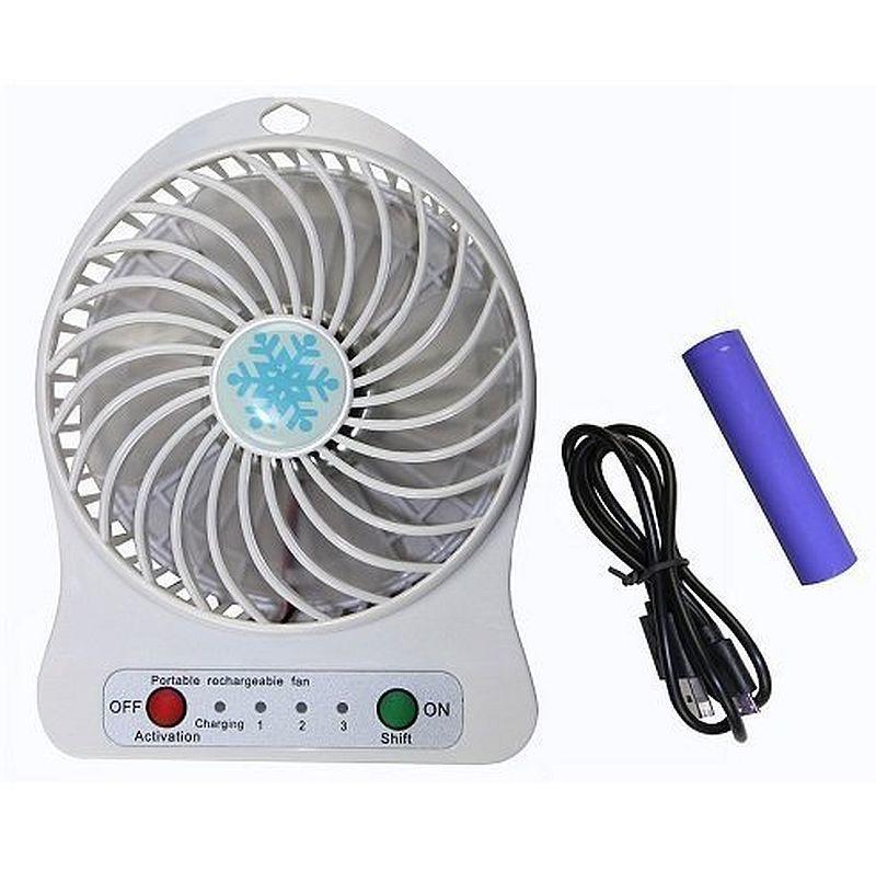 Вентилятор настільний, акумуляторний Usb Mini Fan (акумулятор, usb-кабель)