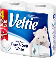 Туалетная бумага Veltie Деликатный Белий 4 рул, 324 листов