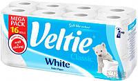 Туалетная бумага Veltie Классический Белий, 16 рул, 144 листов