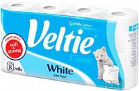Туалетная бумага Veltie Классический Белий, 8 рул, 144 листов