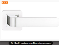 Дверная ручка Metal-bud Rio  серебро сатиновое