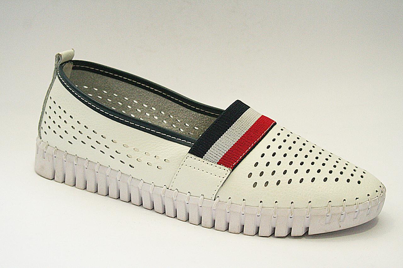 Мокасини жіночі All Shoes, перфорація