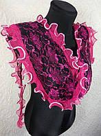 Узкий гипюровый шарфик (цв 02)