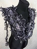Узкий гипюровый шарфик (цв 03)