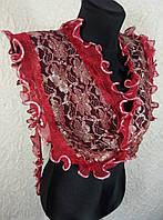 Узкий гипюровый шарфик (цв 04)