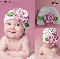 Вязаная шапочка для девочки. 36-42 см, фото 1