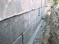 Восстановление гидроизоляции между фундаментом и стеной устройством шпуров с Пенетроном