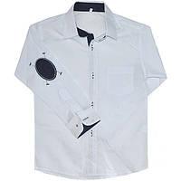 Школьная рубашка с длинным рукавом на мальчика, рр.7-10лет