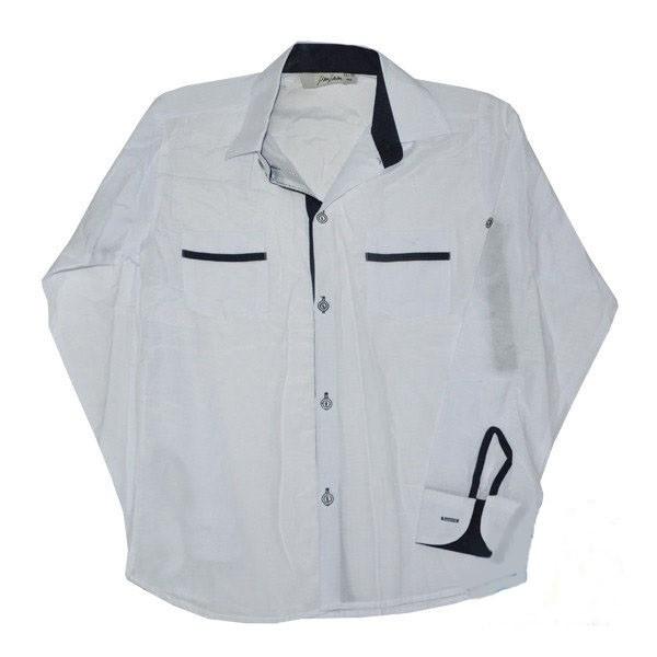 Школьная рубашка с длинным рукавом на мальчика, белая, рр.6-10лет
