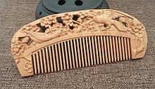 Натуральный гребень из сандала для волос Птицы