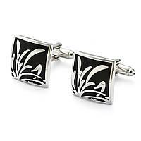 Запонки Bow Tie House с черными вставками Luxury 09572