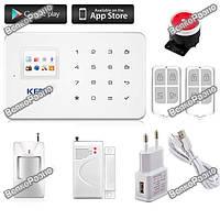 KERUI G18 Беспроводная GSM сигнализация, Android/IOS, Полный комплект.
